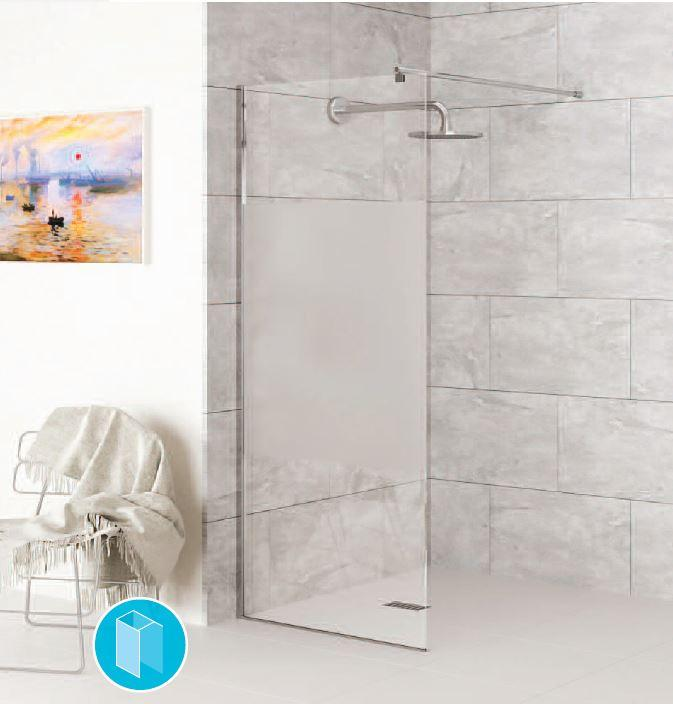 CHIANTI WETROOM PANELS CLEAR GLASS OR OPAQUE PANEL - WITH OR WITHOUT TOWEL RAIL