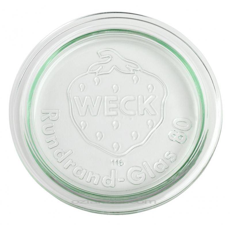 6 Coperchi di vetro per vasi WECK  - diametro 80 mm