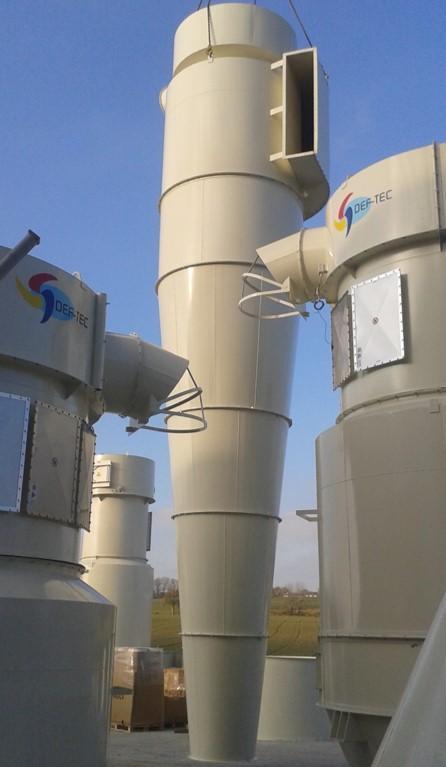 Cyclones - Dans une installation globale de dépoussiérage, filtration et stockage