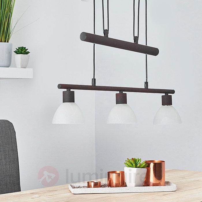 Suspension LED Luke style champêtre réglable - Suspensions LED