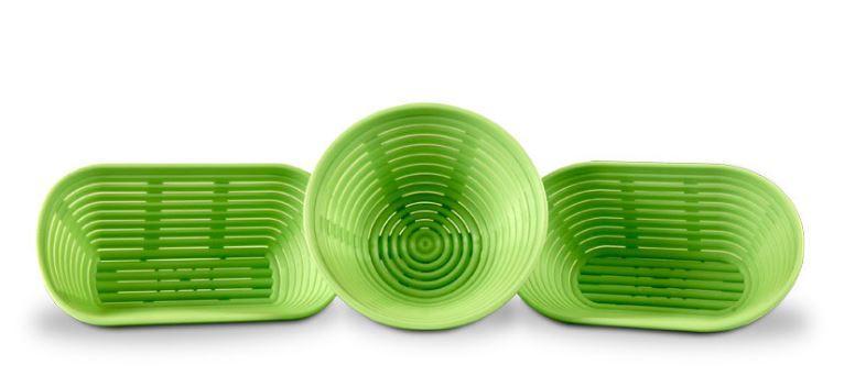 BIRNBAUM Brotformen aus Kunststoff ohne Tücher - Gärform aus Kunststoff
