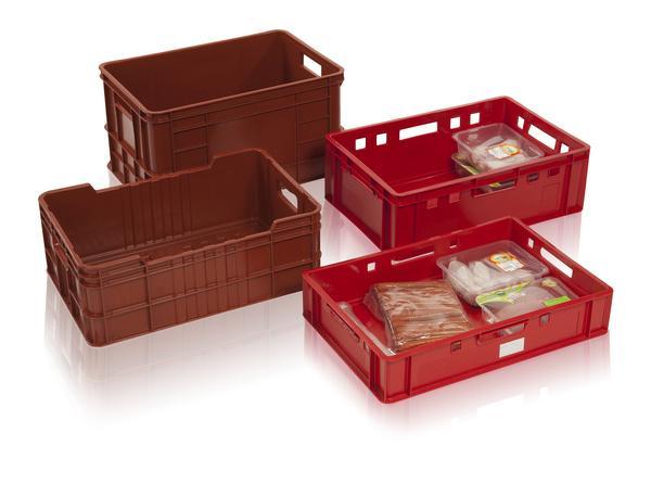Stapelbehälter für Fleisch, Fleischindustrie -
