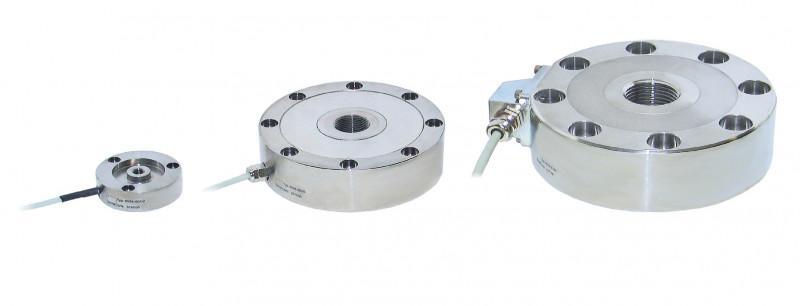 拉压力传感器 - 8524 - 紧凑,简单,普遍适用,易于集成到现有结构,为静态,准静态和动态拉伸和压缩力,不锈钢,过载保护(选配)