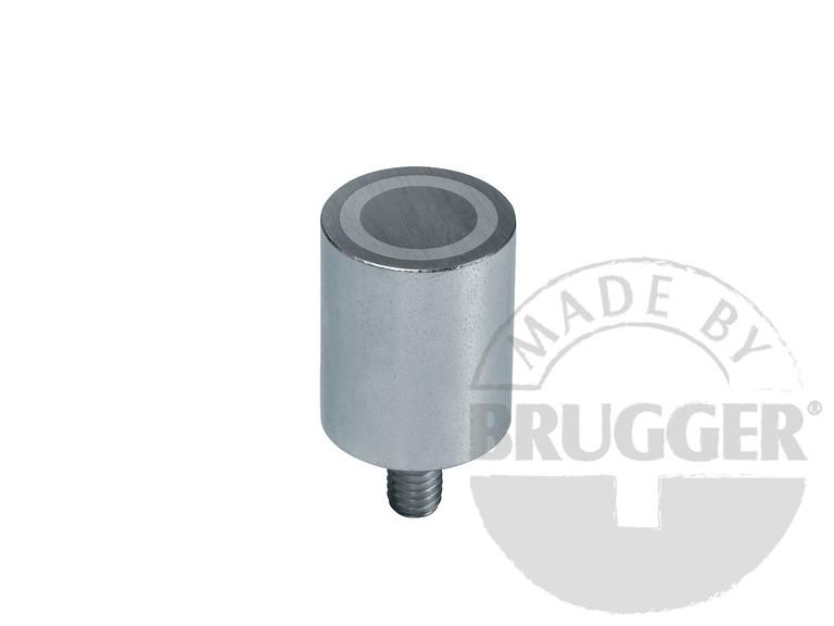 Bar magnet AlNiCo, steel body - with threaded neck