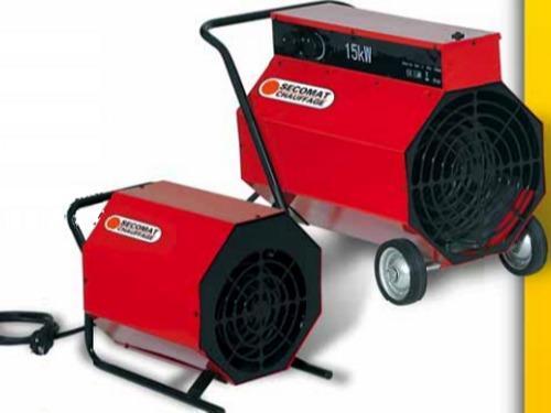 Generateur d'air chaud pulsé pour chantiers, -