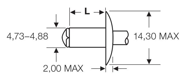 "Blind rivet technology - POP® - ""Peel"" - Peel-rivets - Large flange"