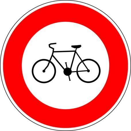 Panneau B9b Accès Interdit Aux Cycles - Balisage De Chantier Et Panneaux Routiers
