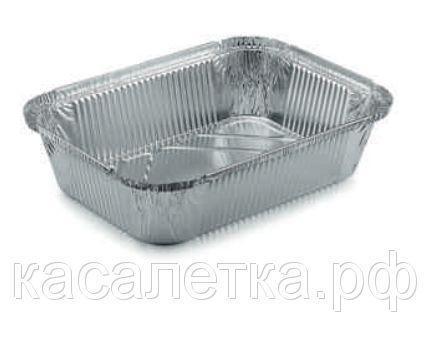 Одноразовая посуда из фольги (Касалетка) 2000 мл. R64L - Контейнер из пищевой алюминиевой фольги