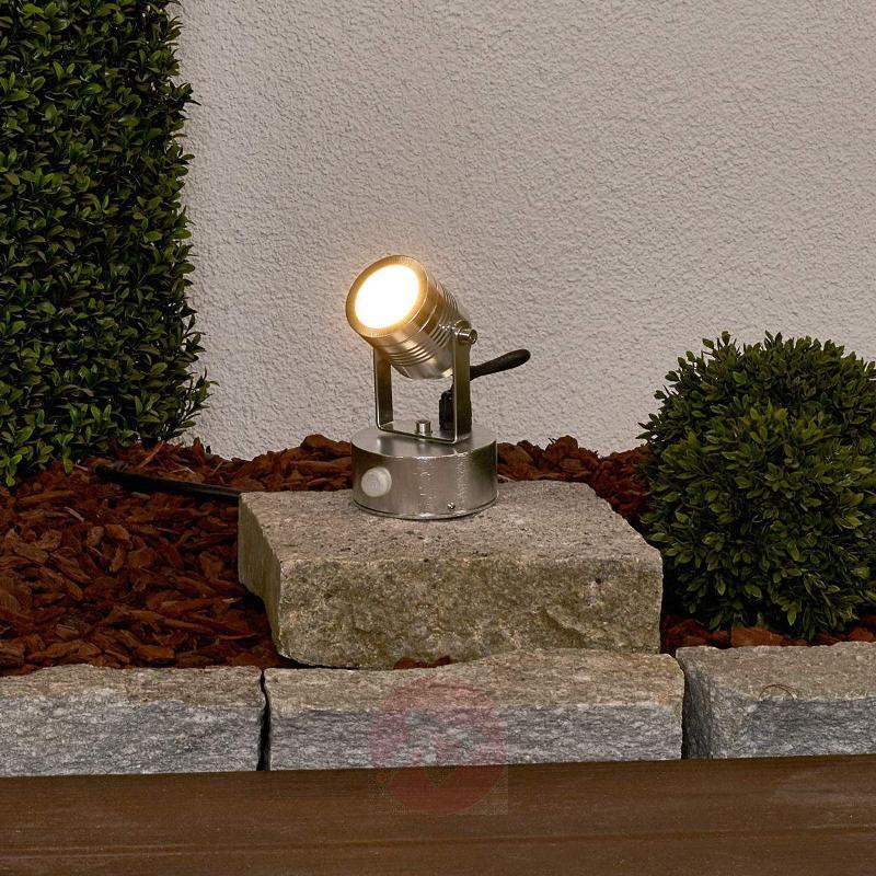 LED outdoor spotlight Malo in brushed aluminium - Outdoor Spotlights
