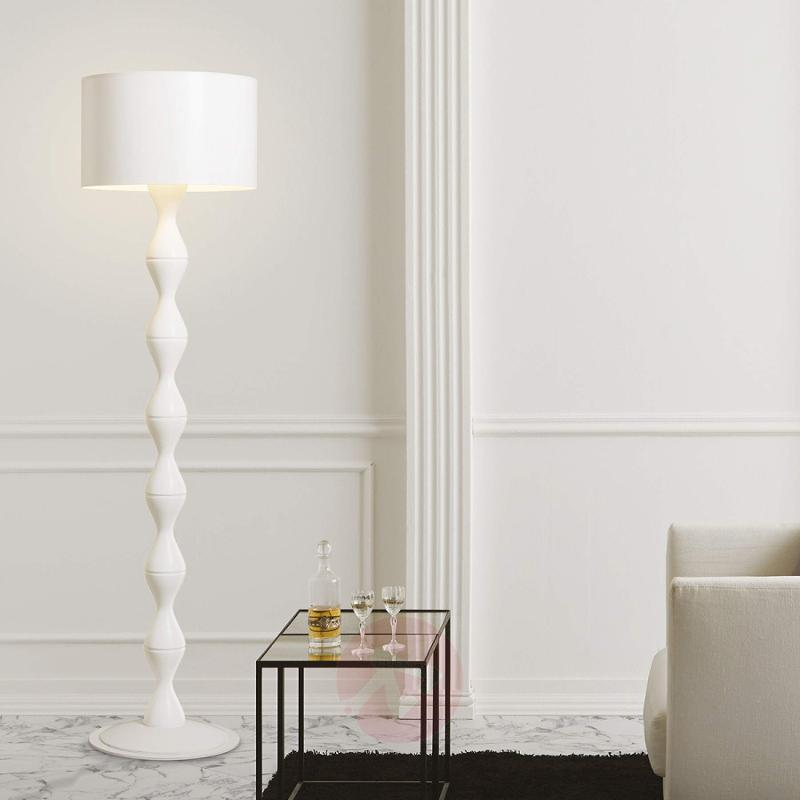 White designer floor lamp Sara - indoor-lighting