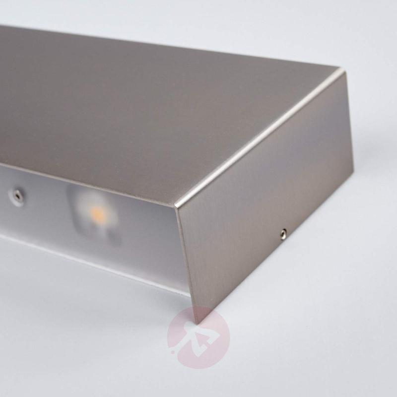 Nickel-coloured Maja LED wall light, 54 cm - Wall Lights