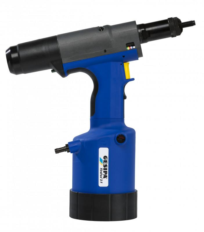 FireFox® 2 F (Hydro-pneumatic blind rivet nut setting tool) - Hydro-pneumatic blind rivet nut setting tool with pure setting force adjustment