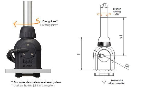 robolink® joint  optional with angle sensors - null