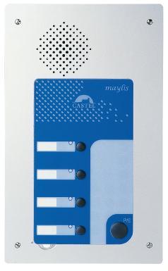 MSP4 - Intercommunication professionnelle (MAYLIS) - Poste Maylis Secondaire 4 touches en version platine