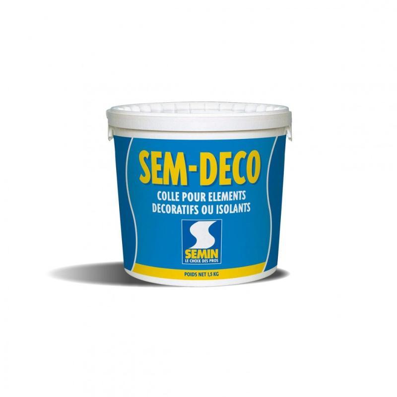 Colle pour éléments décoratifs ou isolants - SEM DÉCO