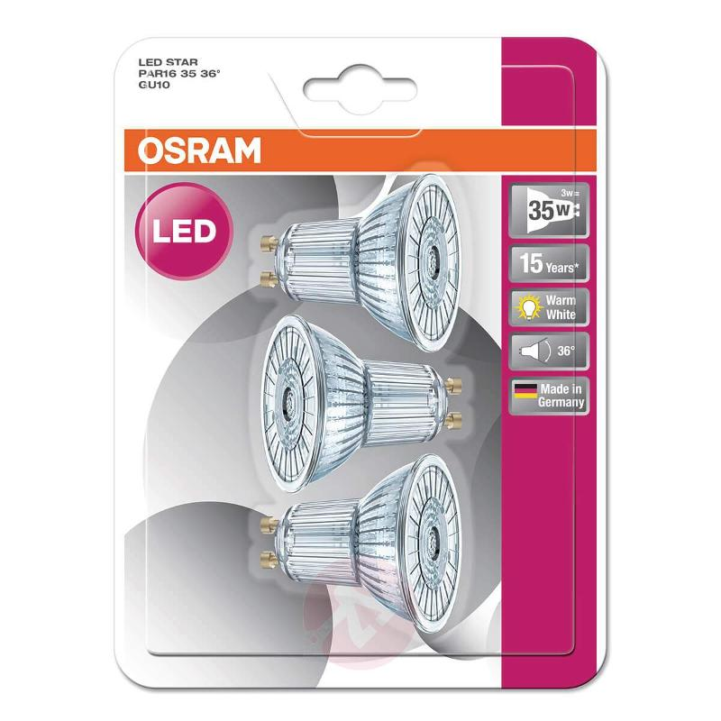 GU10 827 LED reflector bulb Star, set of three - LED Bulbs