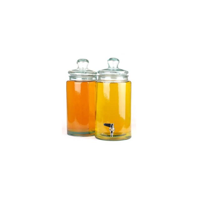Bonbonnière Cylindrique 6 litres avec couvercle en verre 100% recyclé - Bonbonnes et bonbonnières