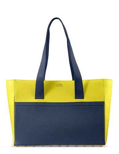 Custom Made Leather Shopper Bag -