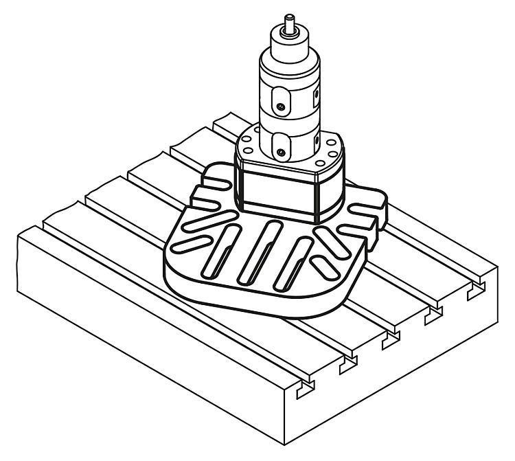 Platine rehausse universelle pour module de base 5... - UNI lock Pas de 80 mm