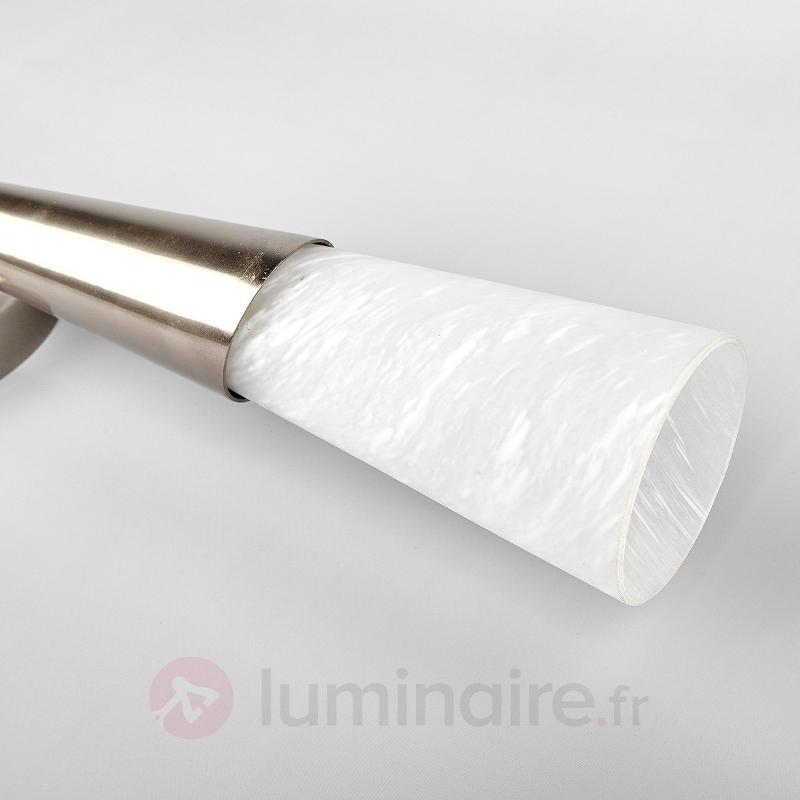 Torche murale LED Sander, nickel mat - Torches murales