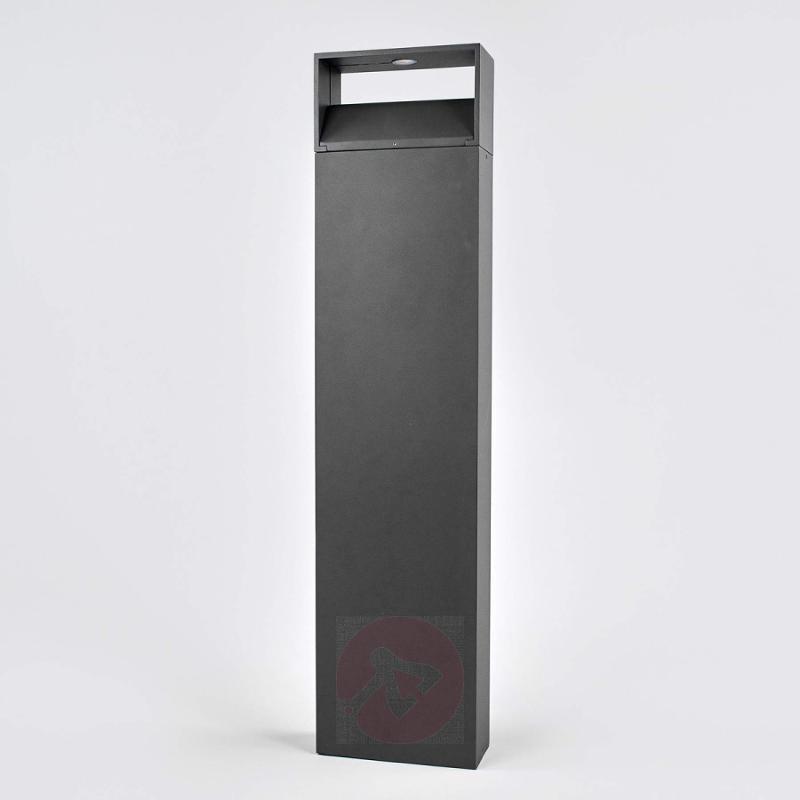 Dark grey Kjella LED bollard light - outdoor-led-lights