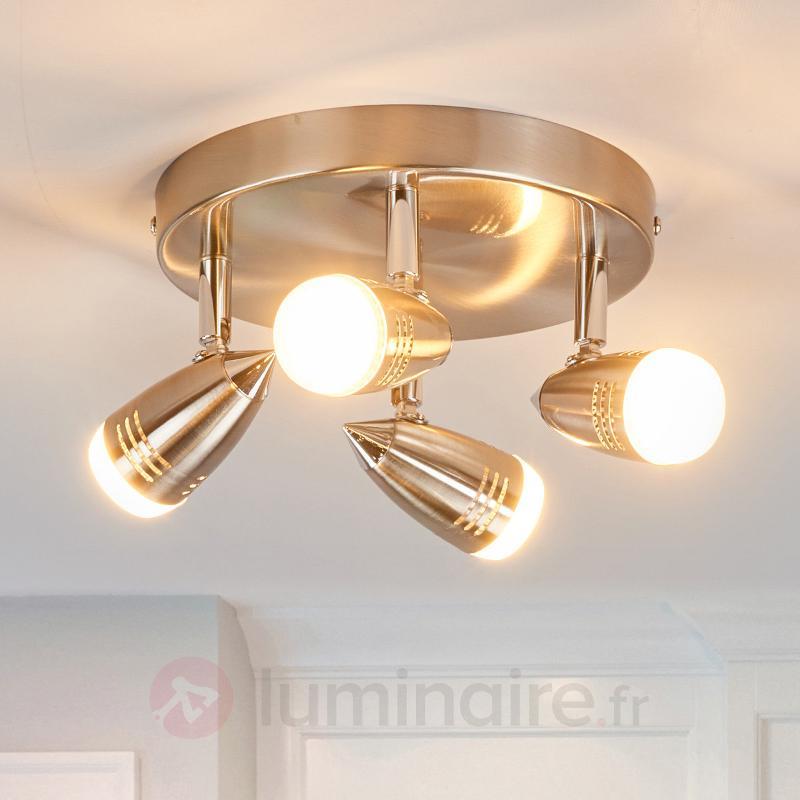 Plafonnier circulaire LED Andy à 4 lampes - Spots et projecteurs LED