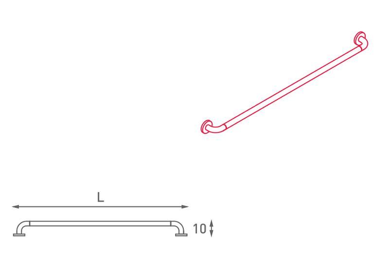 Maniglione di sicurezza lineare - N32.010-017