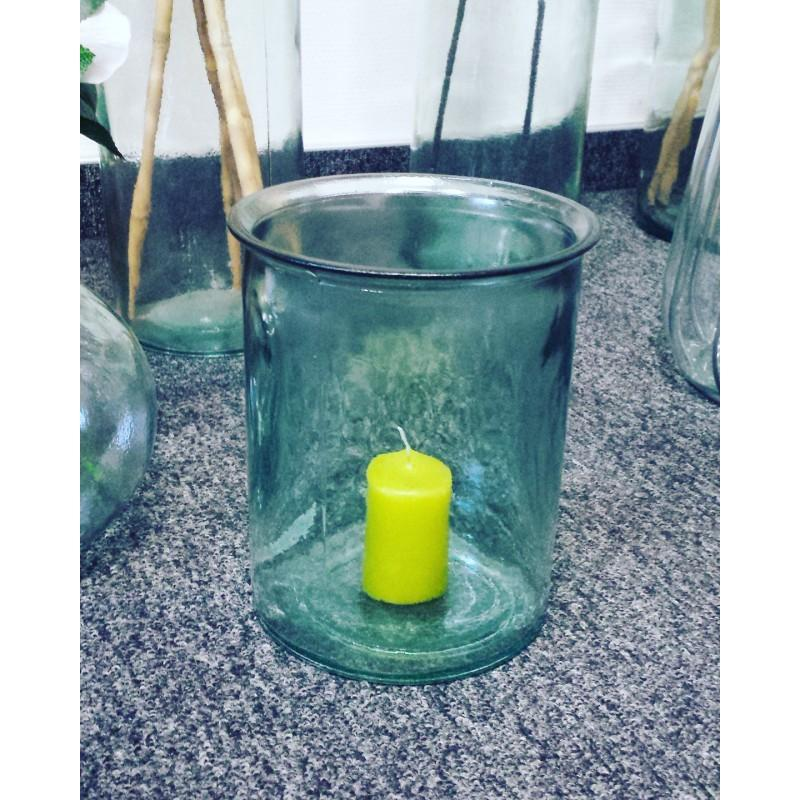 Vase ou photophore OCEANIA, en verre 100% recyclé, 18 cm - Vases, Lanternes, décoration