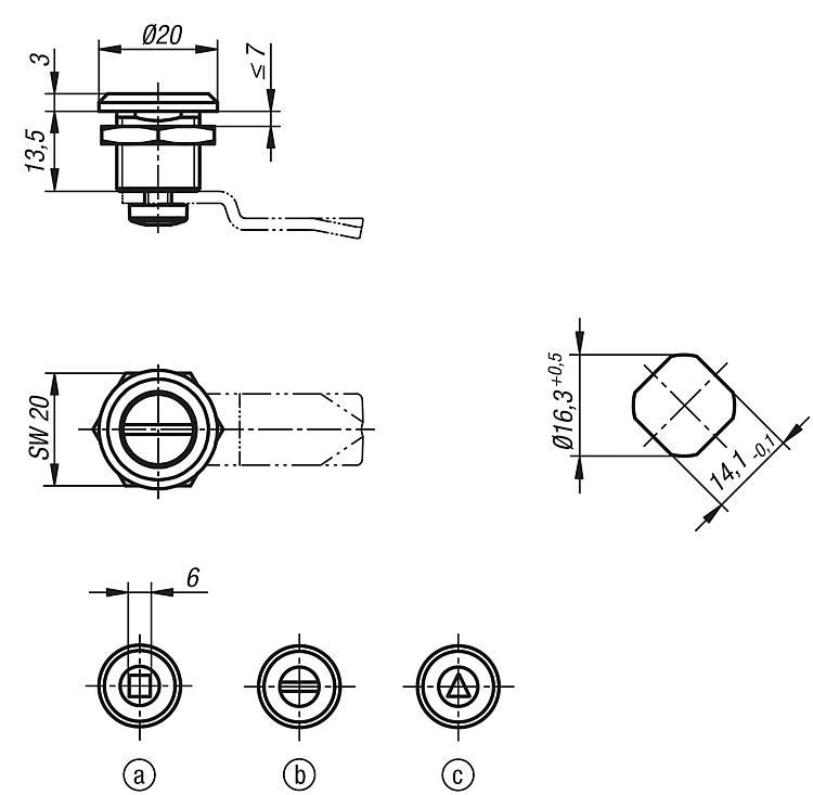 Quarter-turn Locks Compact - Toggle clamps Pneumatic clamps Accessories for clamps Latches Quarter-turn locks