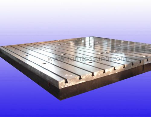 Cast Iron T-slot Table - The work surface can be processed V-shaped, T-shaped, U-groove, dovetail slots,