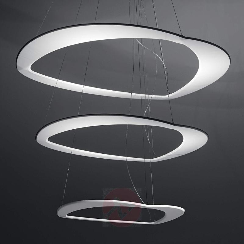 White Diadema designer hanging light with LEDs - design-hotel-lighting