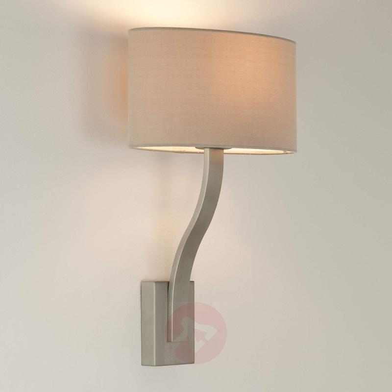 Sofia Wall Light Attractively Shaped Matte Nickel - design-hotel-lighting