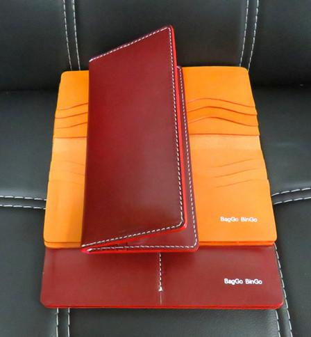 Vegetable Tanned Leather Long Wallet