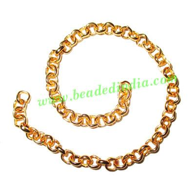 Gold Plated Metal Chain, size: 1x4mm, approx 46.4 meters in  - Gold Plated Metal Chain, size: 1x4mm, approx 46.4 meters in a Kg.