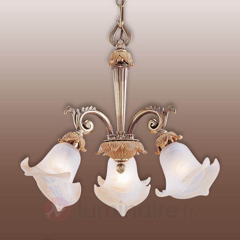 Belle suspension Victoria à 3 lampes - Suspensions classiques, antiques