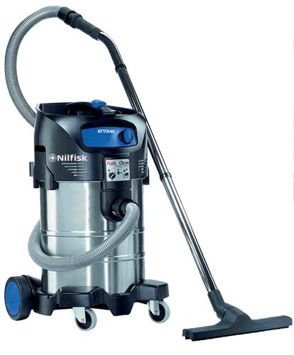 NILFISK ATTIX 40 - Aspirateurs eau et poussière monophasés - Aspirateurs industriels eau & poussière. Cuves 40 lit