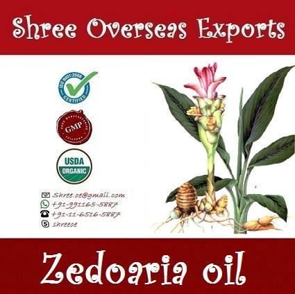 Organic Zedoaria Oil - USDA Organic