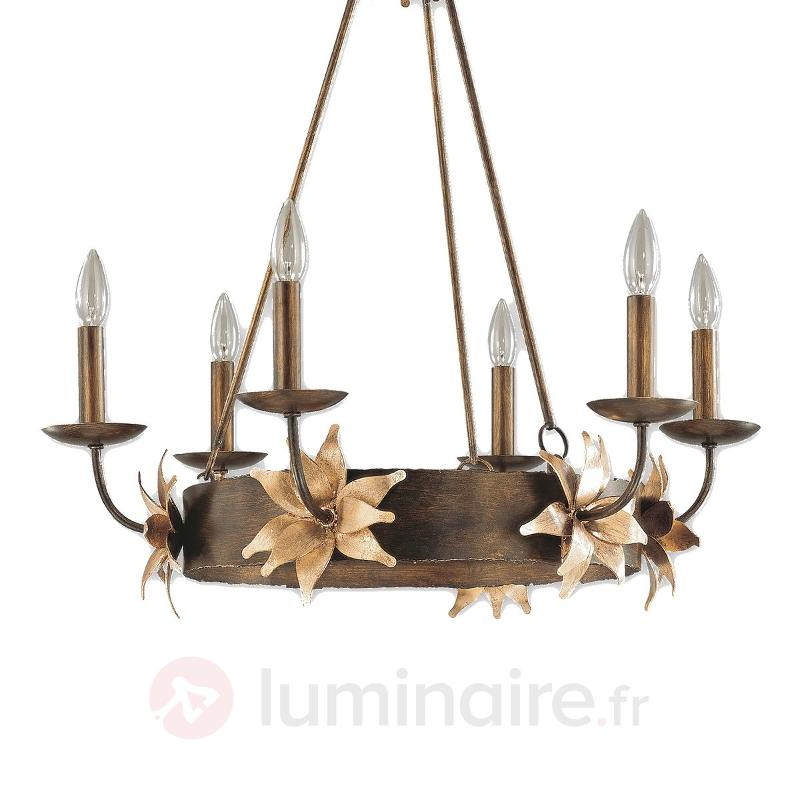 Lustre exceptionnel floral SIMONE - Lustres rustiques