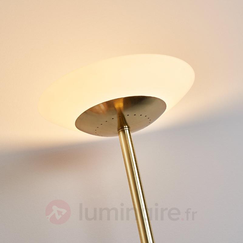 Lampadaire à éclairage indirect Raiko à variateur - Lampadaires LED à éclairage indirect