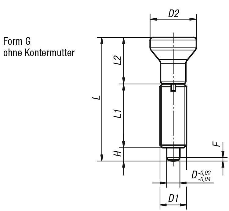 Flexibles Normteilesystem - Arretierbolzen, Edelstahl, ohne Bund