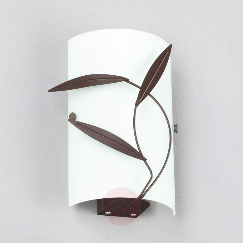 Wall light Marlon with leaf decoration, E14 LED - Wall Lights