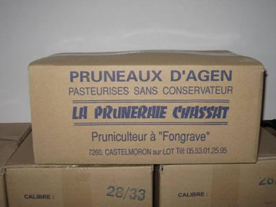 Carton vrac dénoyautés TRÈS GROS 12.5KG - null