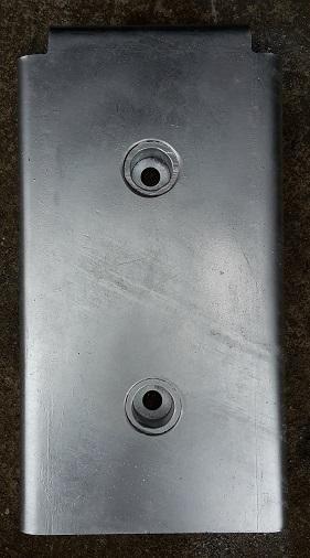 Osłona stalowa na odbój gumowy -