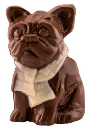 Chocolate figure «French-dog», m., 0,045kg -