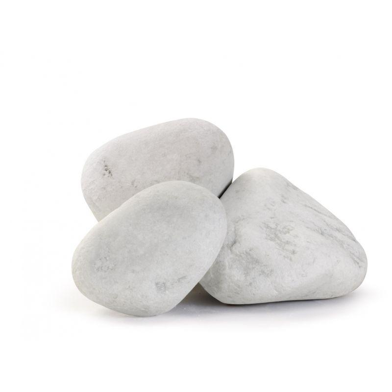 Sac de galet decoratif - Galet marbre blanc de carrare au détail