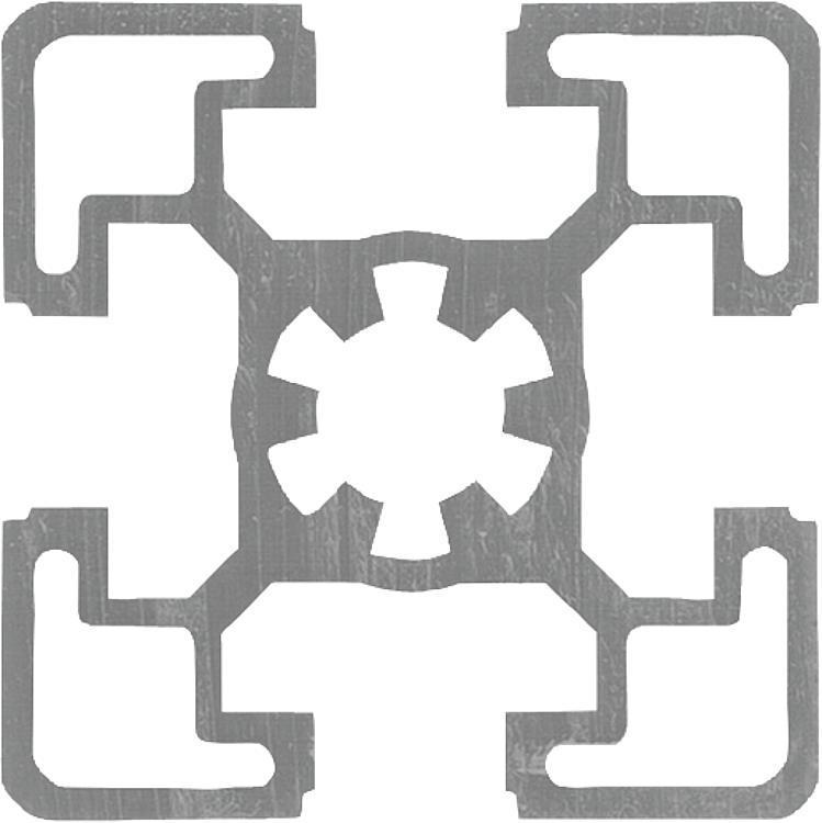 Profilés aluminium 45x45 Type B - Profilés aluminium