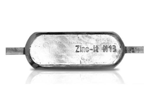 Ânodo de zinco para protecção catódica - Ânodos de casco N13