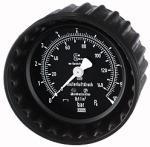 Pressure gauge, 0 - 25 bar/350 psi, 80 mm , for plugging - Pressure gauges