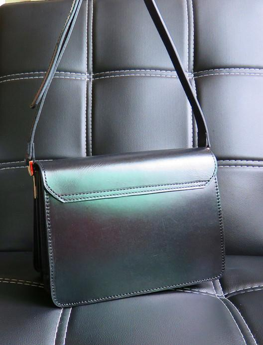 Accordion Style Leather Bag,Accordion Crossbody Bag - Multi-pocket bag,shoulder bag,edgy bag,custom leather bag