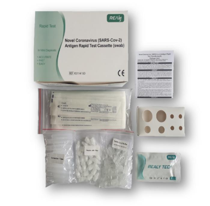 Antigen-Tests, internationale Herstellung - Nasen- und Rachenabstrich  Ergebnis nach 20 Minuten